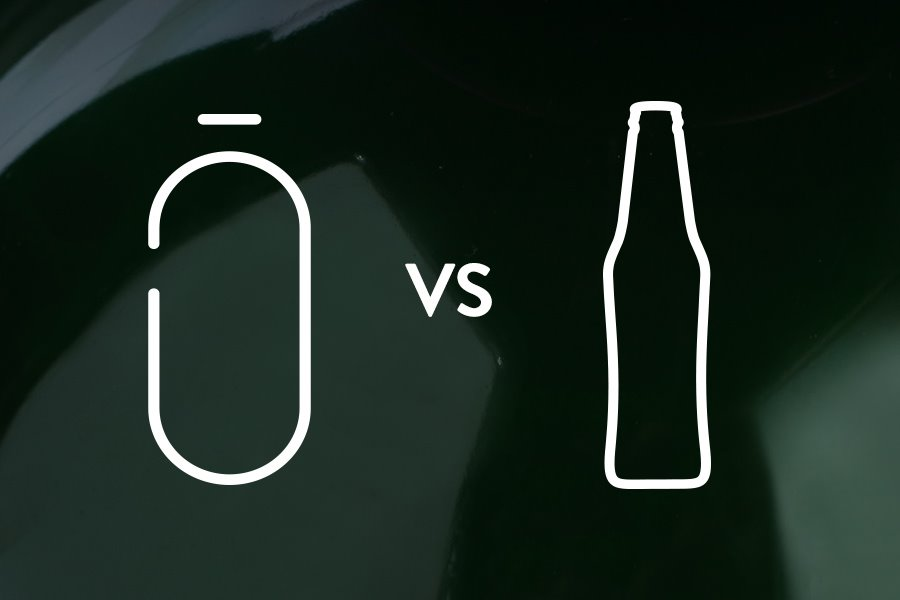 23kg per 100l less waste vs bottles